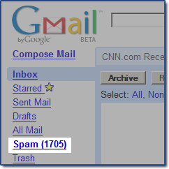 Gmail loves the spam.